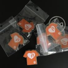 Orange shirt pins with Unifor logo