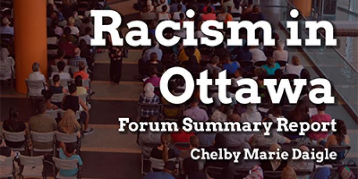 Addressing Anti-Black racism in Ottawa
