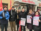 standing in solidarity with Tim Horton's employees